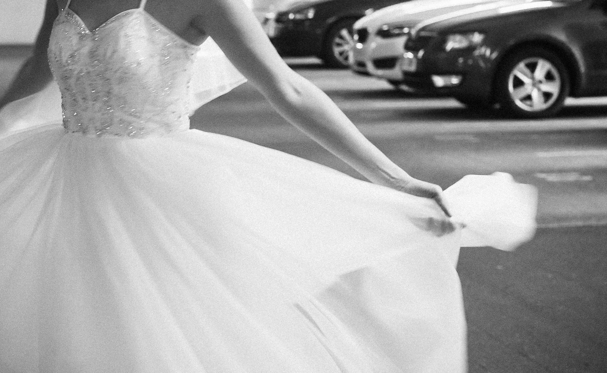 Bride and her wedding dress by Hanne Brooks Photography