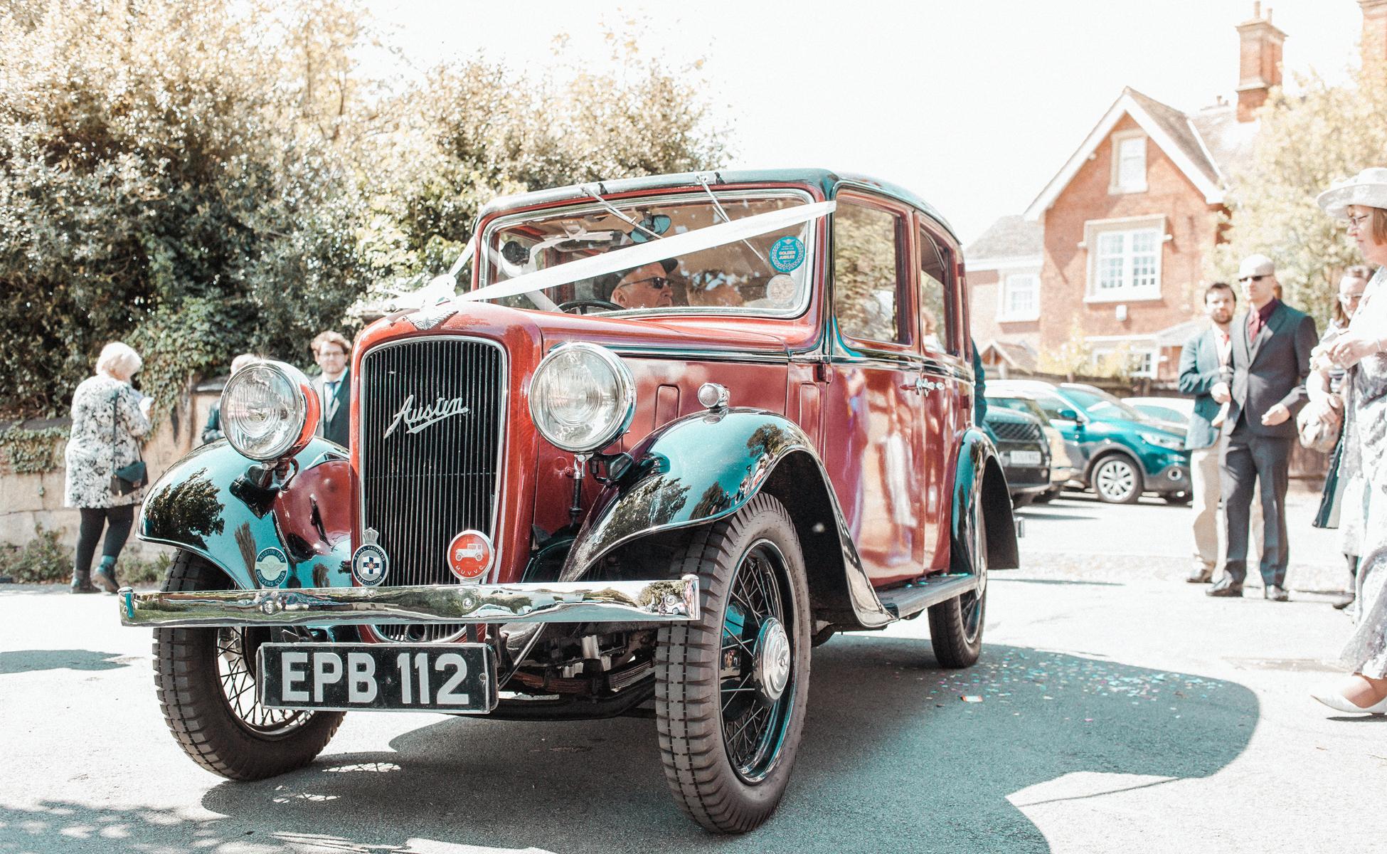 Wedding car by Hanne Brooks Photography