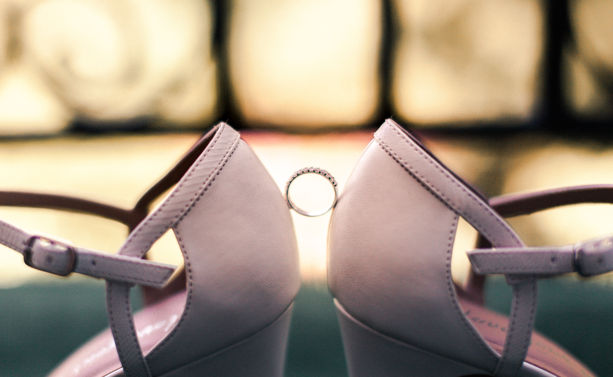 Wedding rings and shoes by Hanne Brooks Photography